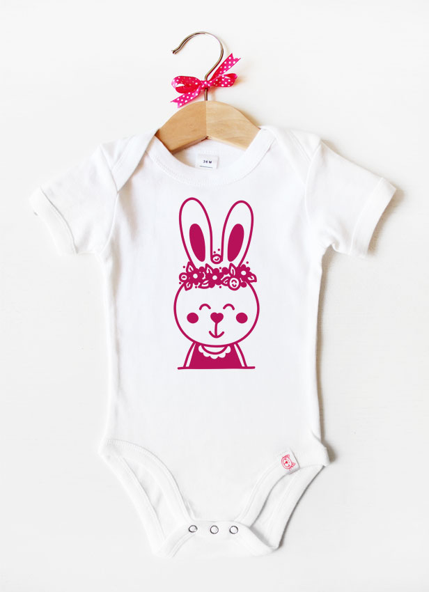 Baby Body |  Hase - pink