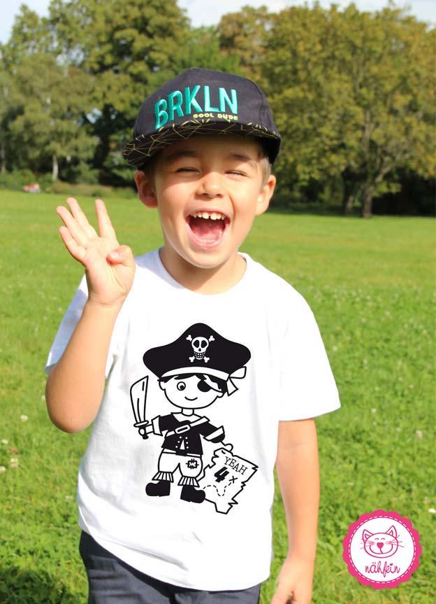 Geburtstagsshirt | Pirat 4 Jahre - nähfein