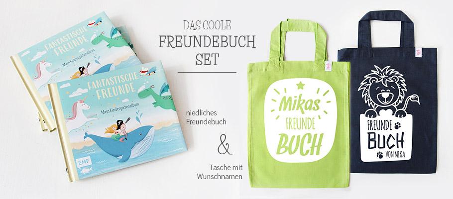 bunte Freundebuch Tasche & Freundebuch im Set - nähfein