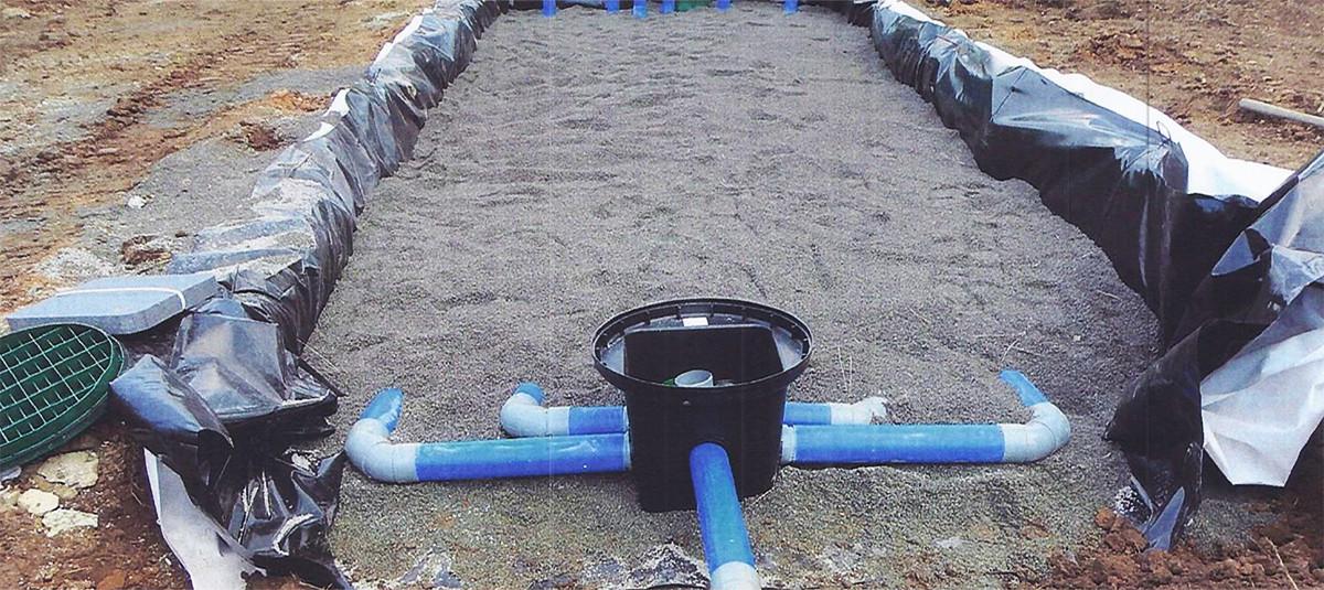 Filtre à sable ENVIROSEPTIC - regard de distribution et sortie ventilation filtre