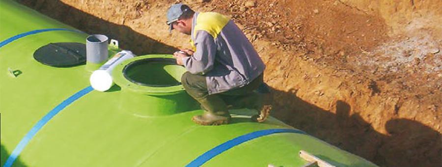 cuve de stockage d'eau de pluie