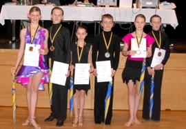 Siegerehrung Jun II D Heisinger, Hollax 1. Platz, Hoffmann-Ackmann, Koch 3. Platz