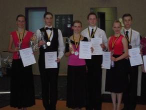 Siegerehrung Junioren II D Silber für Dümecke,Kupfernagel