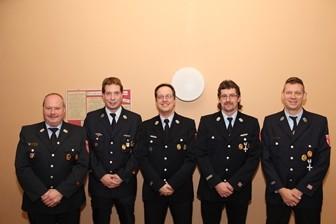 Vorstandschaft Feuerwehr Oberthulba