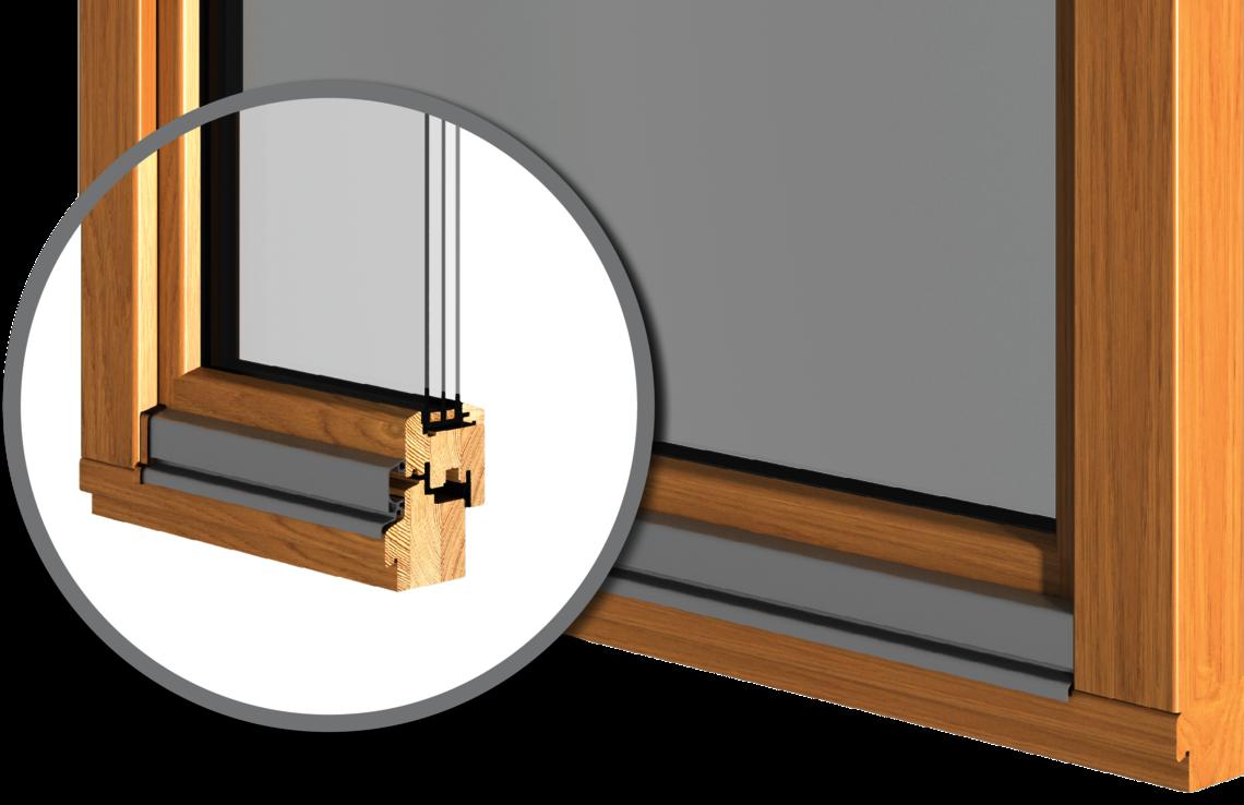 Die modernen Holzfenster in Premiumqualität
