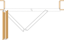 Raumspartüre / Falttüre Funktion Prinzip