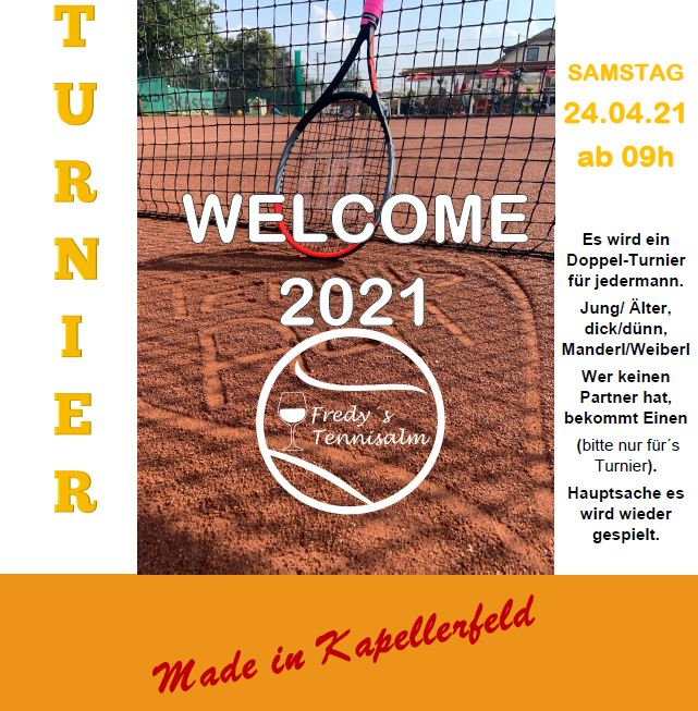 Welcome 2021 Turnier