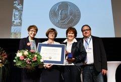 v. l. Dr. Karin Müller, Petra Albrecht, Dr. Ute Teichert, Erich Hedtke