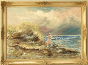 Frau am Meer von Egon Dürfeldt