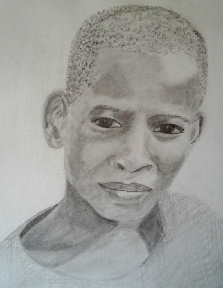 Benjamin.Crayon  par B C Ruiz  d'après photo personnelle. 21 x 29.7   40 €  . Encadrement sur demande.