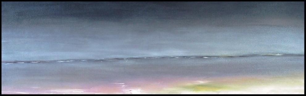 Entre Ciel et Terre 10. Le Nord, par B.C Ruiz; huile sur toile 88 x30   200 €