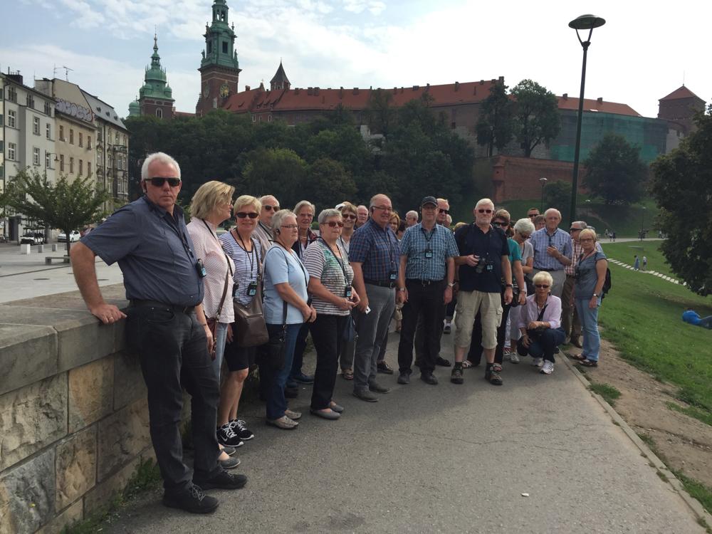 Bürgerfahrt 2016 - vor der Wawel-Burg