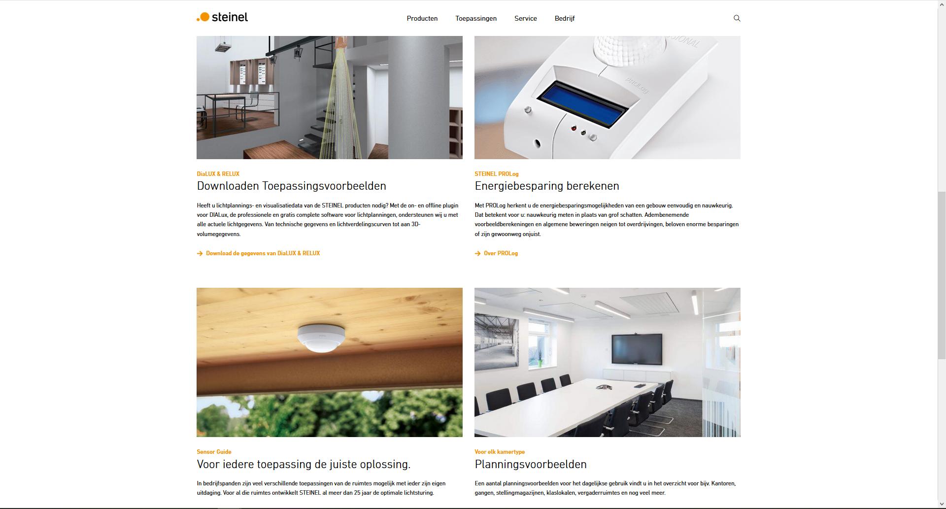 Op de website van fabrikanten zijn toepassings- en planningsvoorbeelden te vinden
