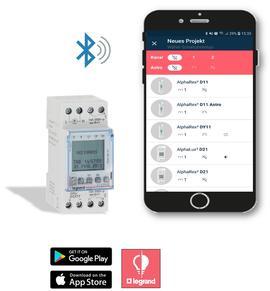 Programmatie van digitale schakelklok m.b.v. smartphone-app