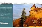Chateau du Haut-Konigsbourg, Affenpark und Adler-Flugschau in Orschwiller im Elsass