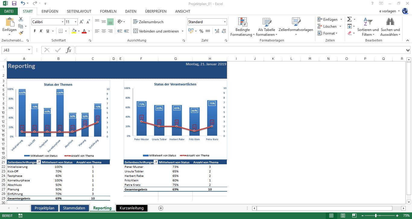 Excel Projektplan