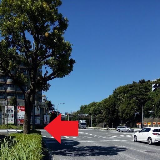 横浜市都筑区仲町台 新栄高校南側交差点