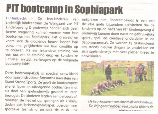 Bootcamp 4 kids voor de Wijngaar (2016)