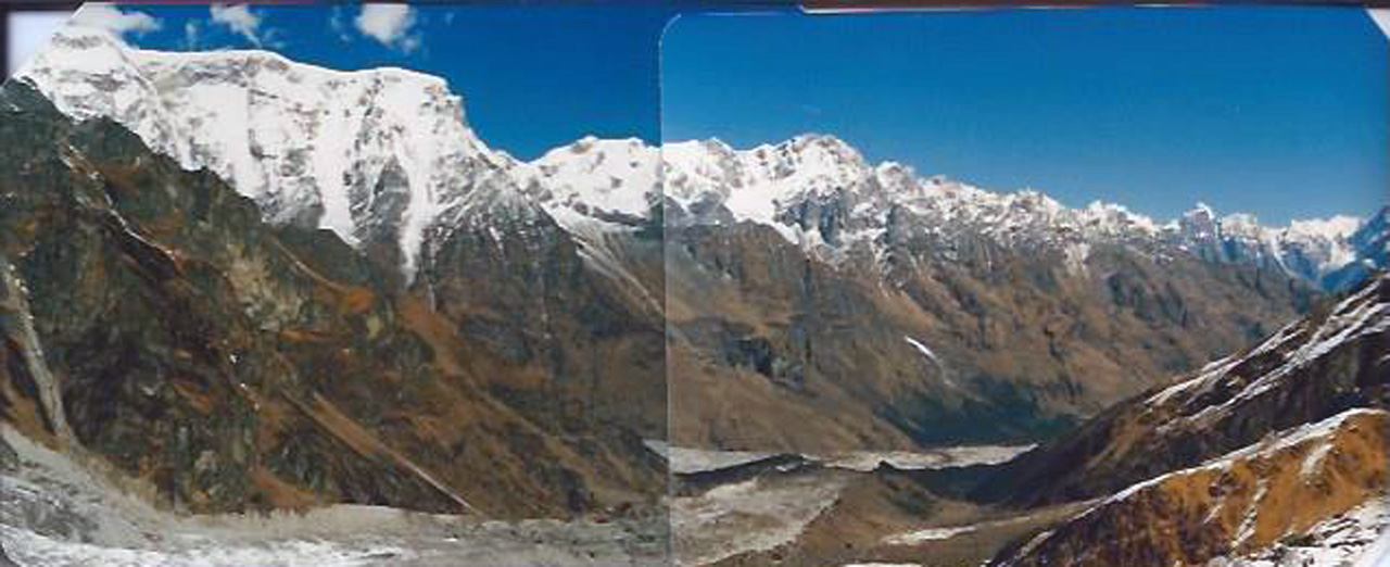 le haut de la vallée après le col