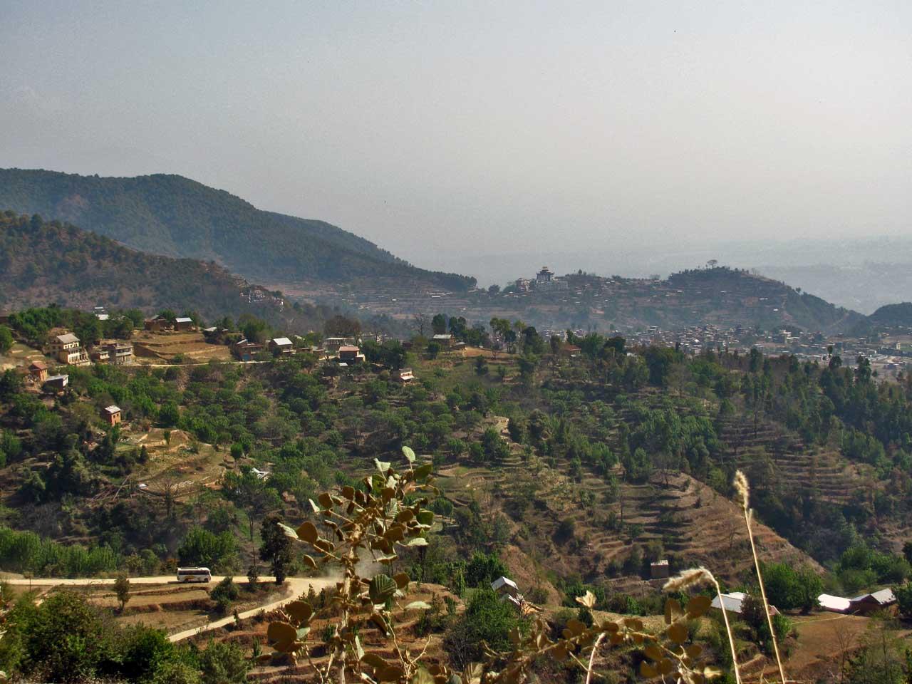 entrée dans la vallée de Katmandou par le sud