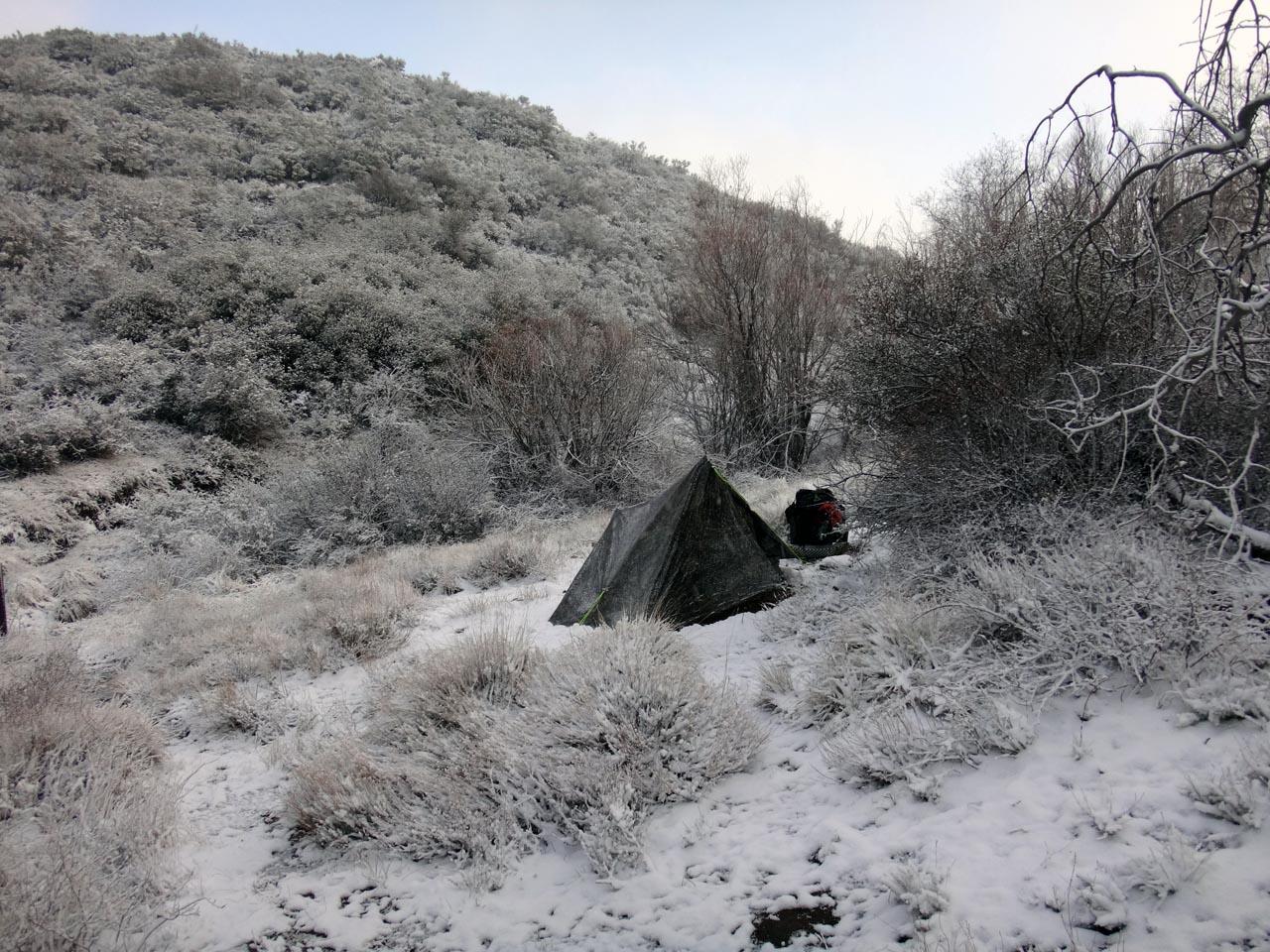 """première """"tempête"""" de neige"""