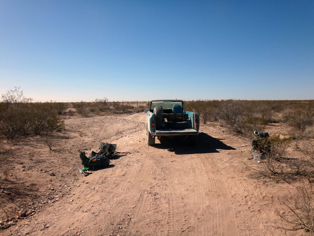 La frontière mexicaine est un simple barebelé