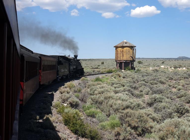 petit train pour revenir vers les montagnes de San Juan
