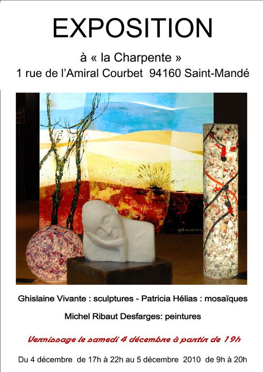 """Exposition Galerie d'Art """"La Charpente"""" 2011"""
