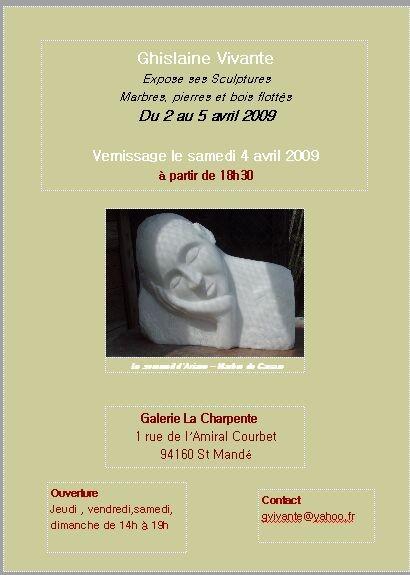 """Exposition Galerie d'Art """"La Charpente"""""""