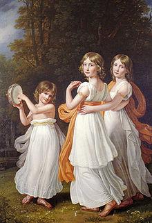 Ludovika mit zwei ihrer Schwestern