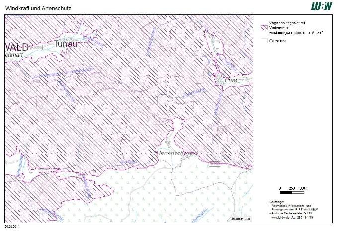 Teilfläche Europäisches Vogelschutzgebiet Südlicher Schwarzwald