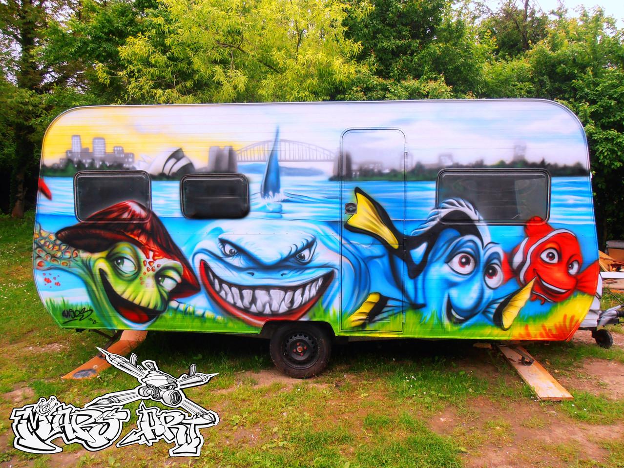 Custompainting / Wohnwagen Nemo