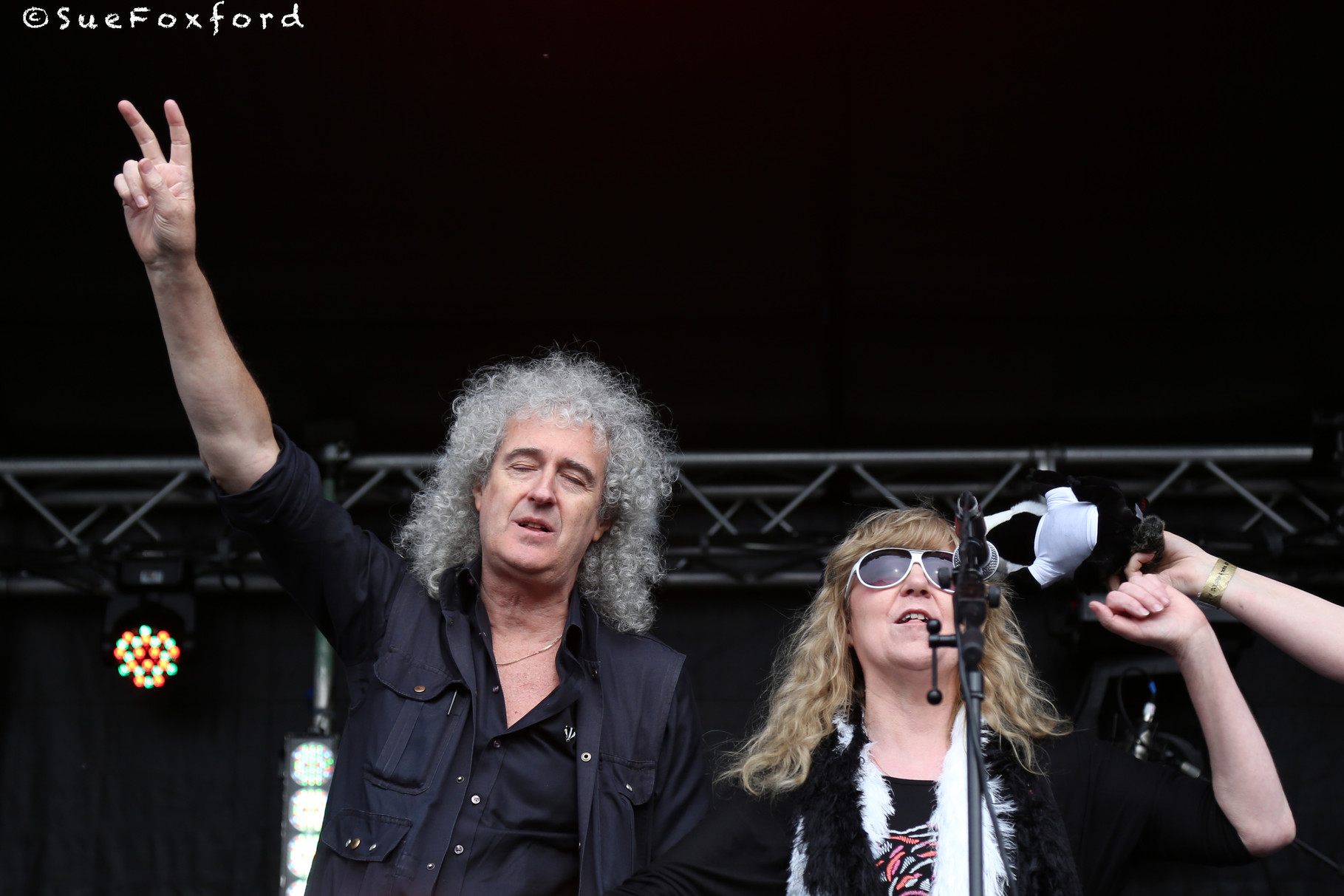 Brian May, Shirley Higton  - @SueFoxford