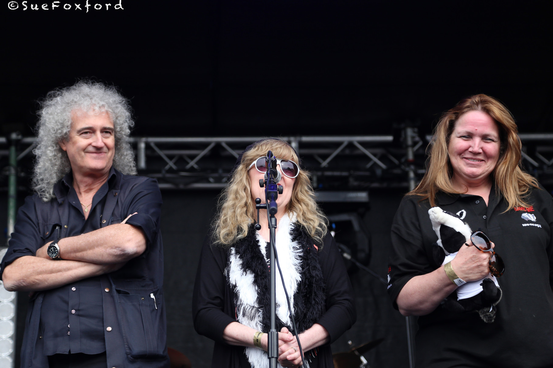 Brian May, Shirley Higton, Anne Brummer  - @SueFoxford