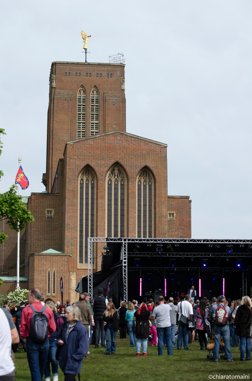 Guildford cathedral and the stage - @ChiaraTomaini