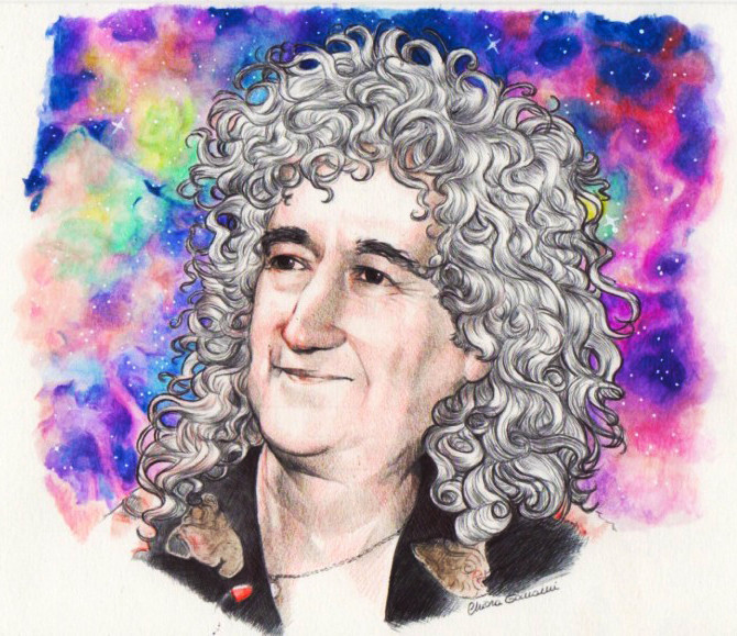 Brian May (piece of collaboration with Anne Ricarda) 2014 - Chiara Tomaini