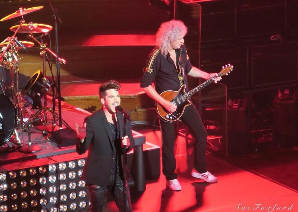 Adam Lambert and Brian May -  ©SueFoxford 2015