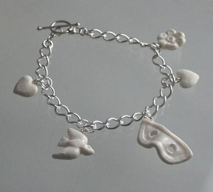 Charm bracelet: white mask