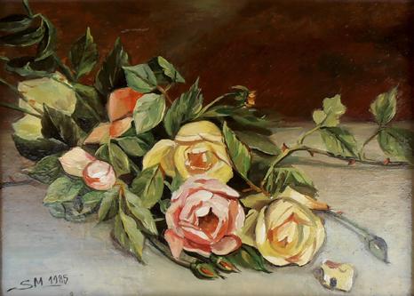 Rosen, 24 x 18 cm, Öl (nicht verkäuflich)