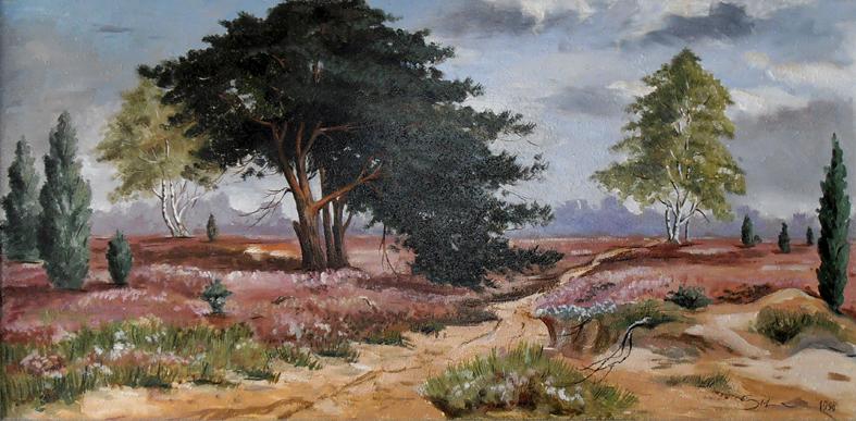 Heildelandschaft, 100 x 50 cm, Öl (nicht verkäuflich)