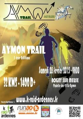 Aymon Trail 2015 (Bogny/Meuse - dép08 - 30relais/30solo - Sam28/02/2015)