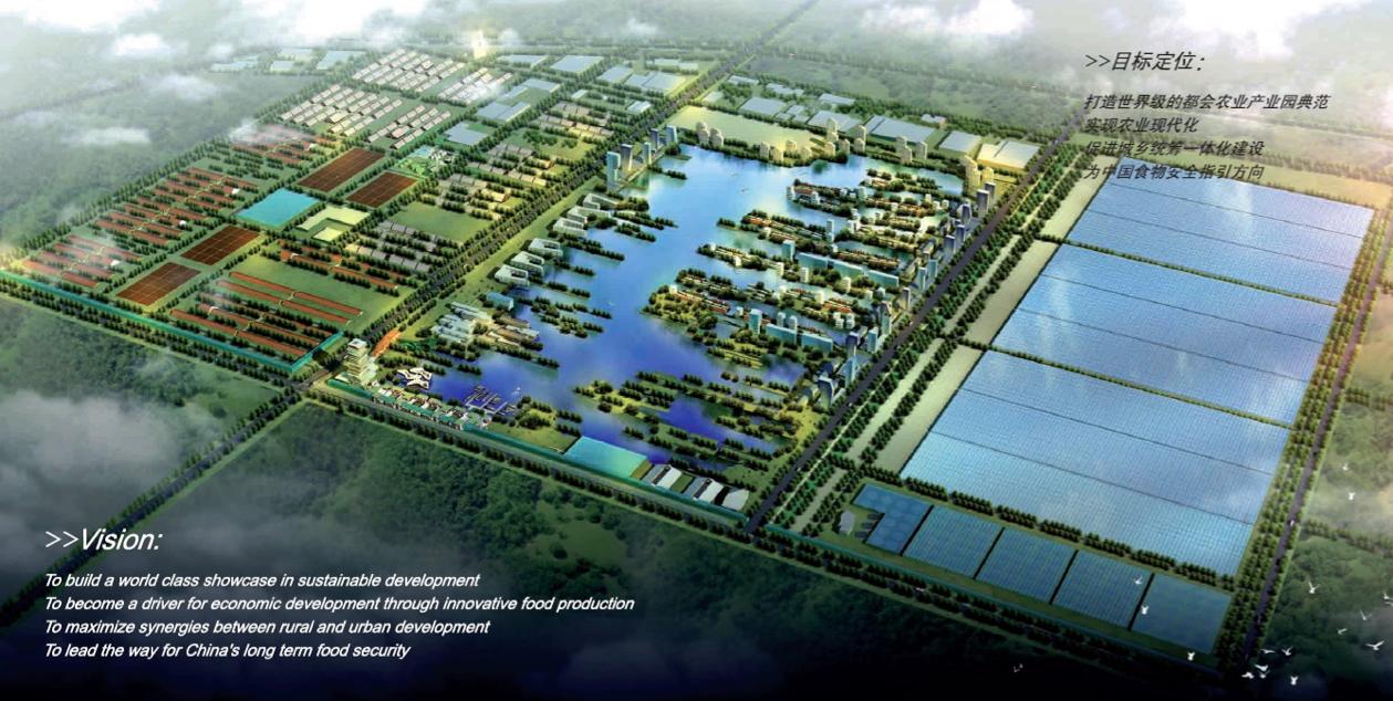 Caofeidian agrupación de invernaderos, China