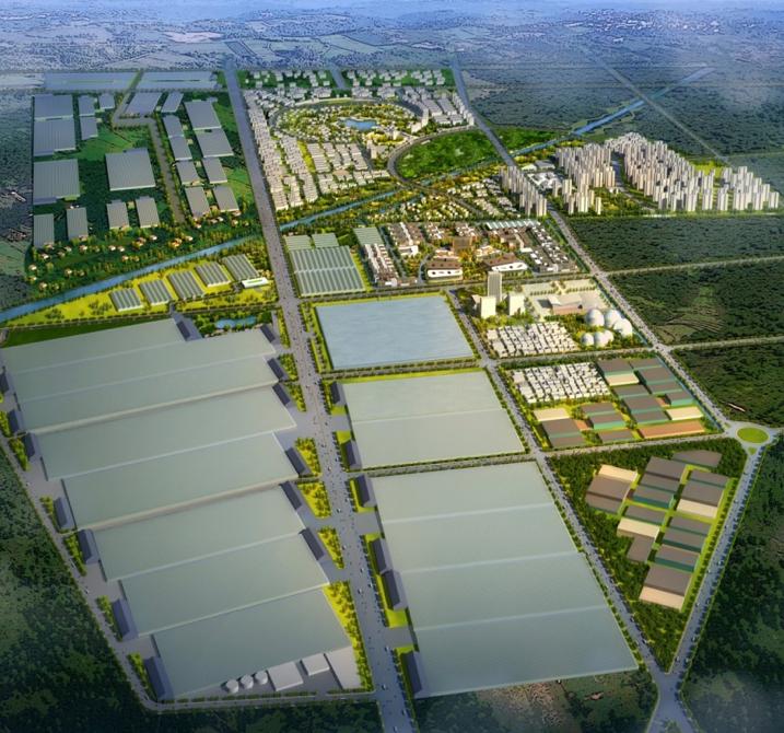 Shandong Liaocheng agrupación de invernaderos, China