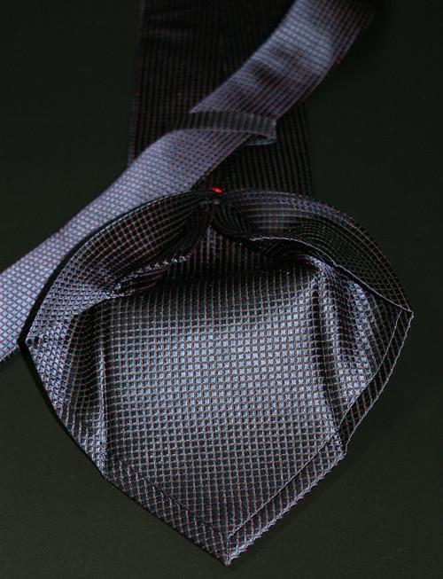 Sieben Falten Krawatte blau