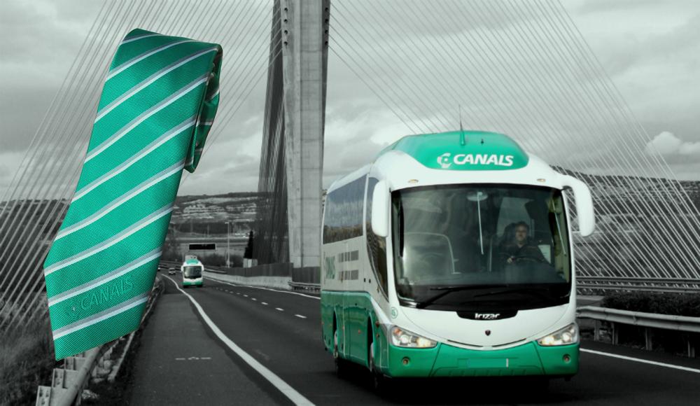 Spanische Transporte Unternehmen Canals mit neuen CI gerechten Krawatten
