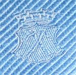 Eingewebtes Logo auf Krawatte der Stadt Bad Homburg