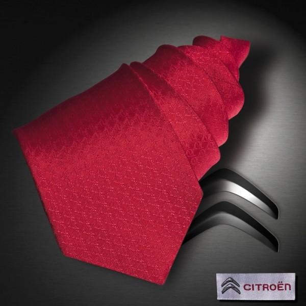 Citroen, Gewebte Seidenjaquard Krawatte mit integriertem DS Logo in der Struktur des Designs