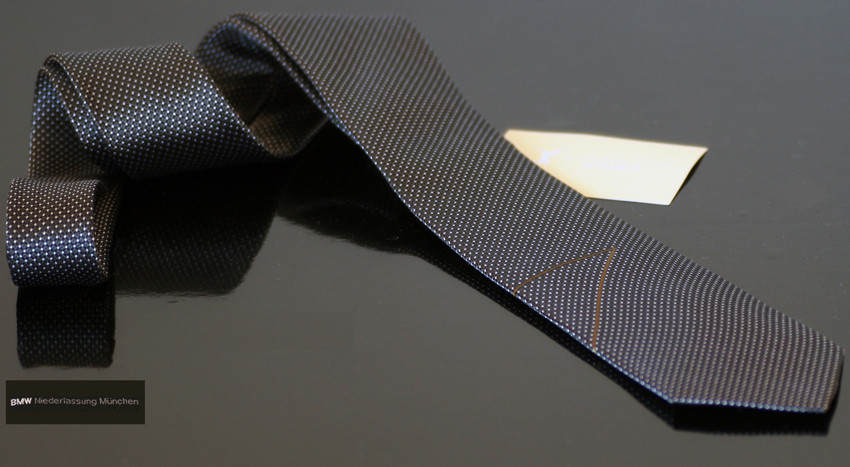 BMW Krawatte zur Präsentation des neuen 7ers