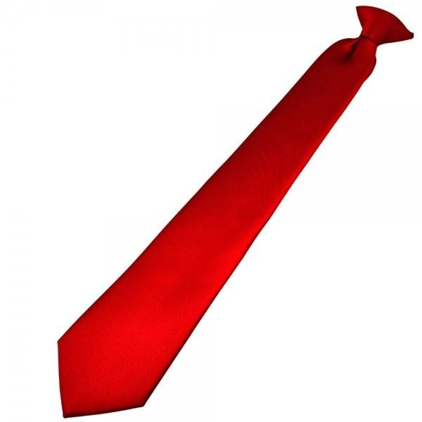 Clip Krawatte polyester rot