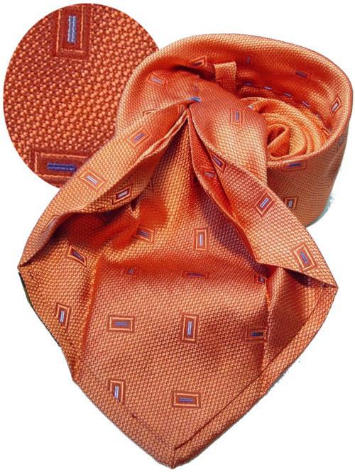 Sieben Falten Krawatte Orange